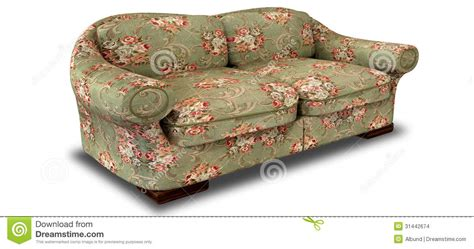 red floral couch old floral sofa perspective stock images image 31442674
