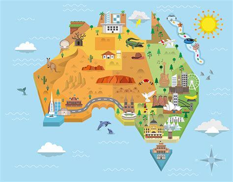 australia on a map australia graphic map on behance