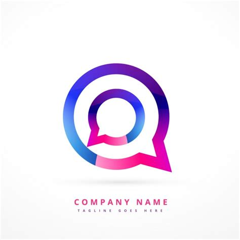 chat free colorful logo of chat vector free