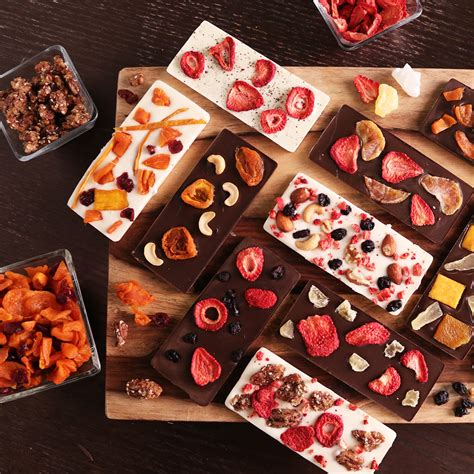 Handmade Chocolate Decorations - gourmet fruit and nut chocolate bars popsugar food
