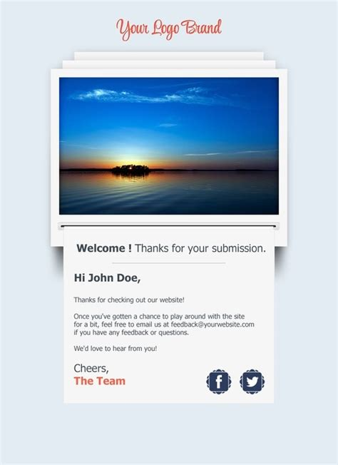 14 Best Welcome Email Newsletter Images On Pinterest Email Newsletters Welcome Emails And Welcome Email Template Html Free