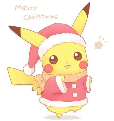 imagenes kawaii pokemon 2htpj christmas cute merry christmas pikachu pokemon favim