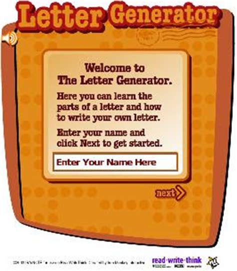 Letter Generator Learning Letter Generator Readwritethink