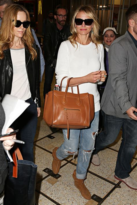 Cameron Diazs Fendi To You Purse by Kate Upton And Cameron Diaz Travel With Bags Page