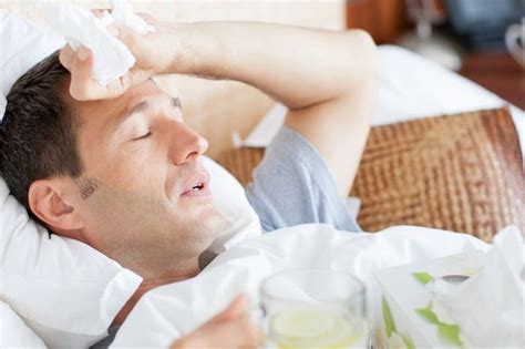 irish men in bed having a cold or flu dramatically raises your risk of