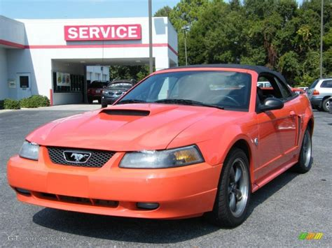 2004 mustang colors 2004 competition orange ford mustang gt convertible