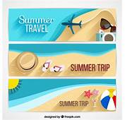 Summer Holidays Banners Design Vector  Free Download