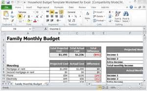 excel templates budget monthly household bills household budget template worksheet for excel