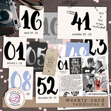 3x4 Note Card Template by My Year In Pockets Weekly Card Templates 2 Brittdes Myip