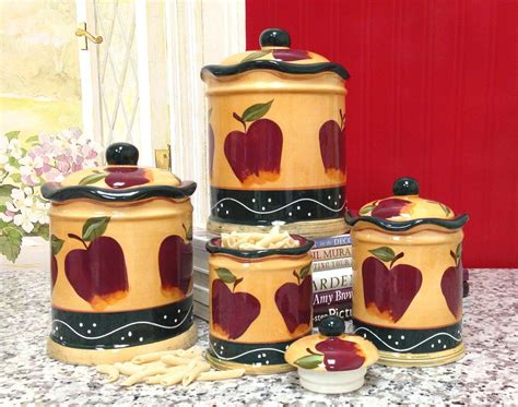 apple canisters for the kitchen iphone apple kitchen decor