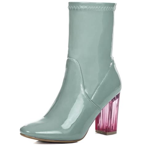 bora green ankle boots shoes from spylovebuy