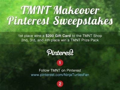 Pinterest Sweepstakes - tmnt pinterest sweepstakes teenagemutantninjaturtles com