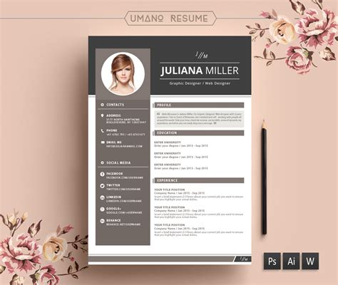 free resume templates designs sles in