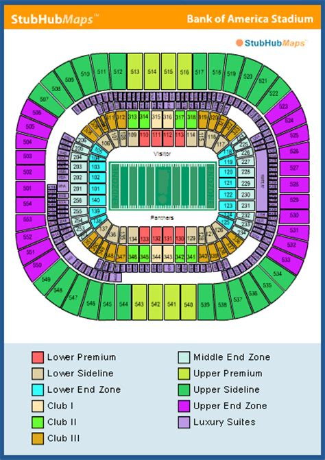 bank of america stadium seating bank of america stadium seating chart pictures