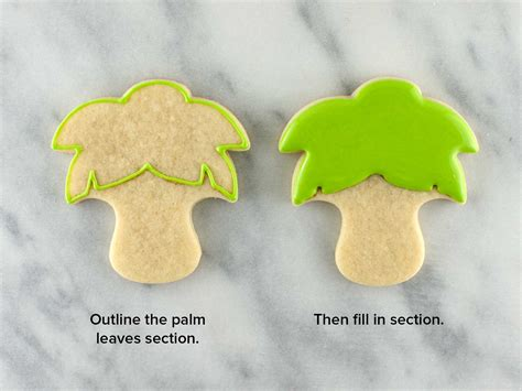 how to make icing trees how to make palm tree leaves with royal icing theleaf co