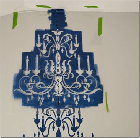 Chandelier Wall Stencil Decorate With A Chandelier Stencil Stencil Stories Stencil Stories