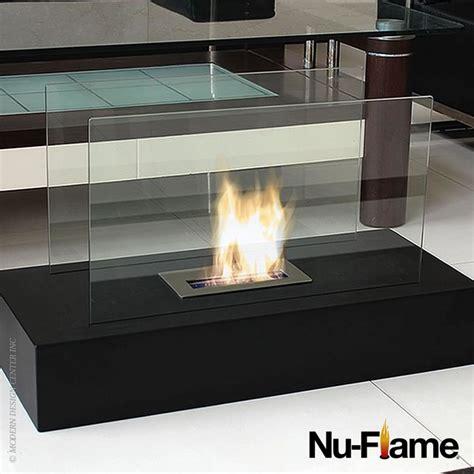fiamme modern glass floor fireplace nu modern