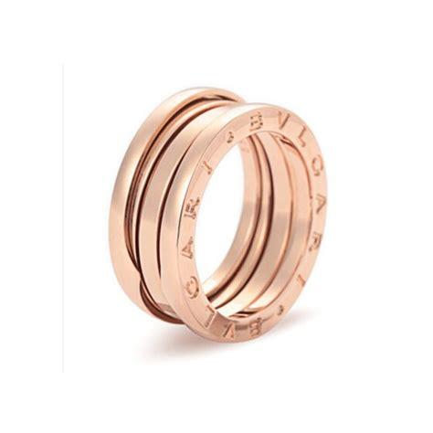 bvlgari bzero1 3band ring bulgari b zero1 3 band ring in 18k pink gold