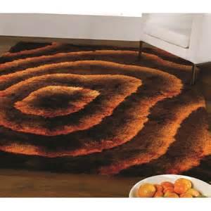 brown orange splendour deluxe rug carpet