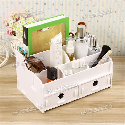 white diy desk tidy desktop cosmetic pen stationery desk