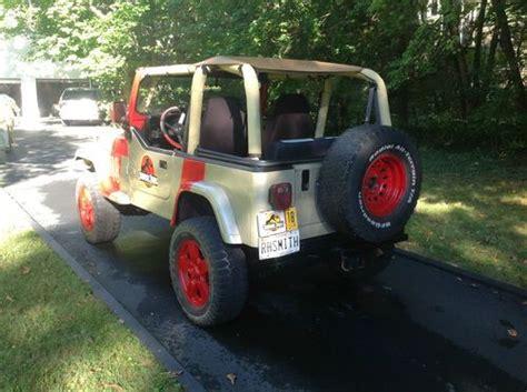 Jurassic Park Jeep Wrangler For Sale Find Used 1995 Jurassic Park Jeep Wrangler In Catonsville