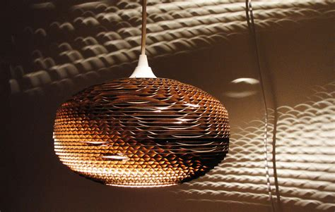Create Your Own Chandelier Recycled Corrugated Cardboard Lights Kitchen Studio Of