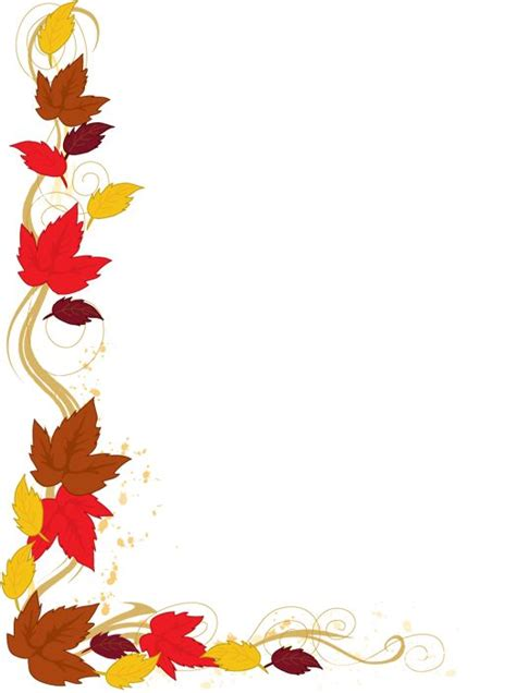 25 Best Ideas About Fall Clip Art On Pinterest Tree Clipart Felt Applique And Art Clipart Fall Border Templates