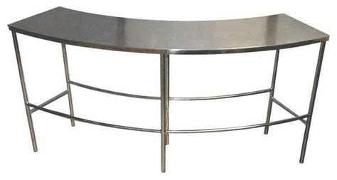 mid century curved stainless steel table 1 580 est