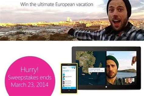 Europe Trip Sweepstakes - win dream trip with skype european sweepstakesbible