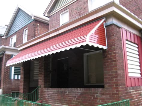 aluminum awnings pittsburgh step down aluminum awning with scalloped edges and