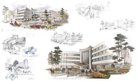 design concept nature architecture hotel architectural design conceptual sketches pencil
