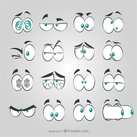 imagenes de ojos alegres para dibujar ojos estilo c 243 mic descargar vectores gratis