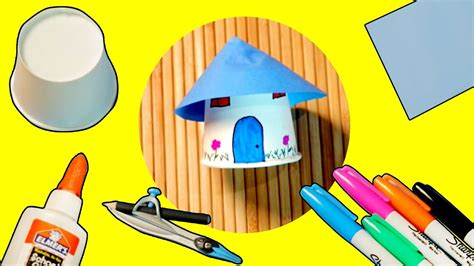 house crafts for paper cup house craft ideas house attachment diy