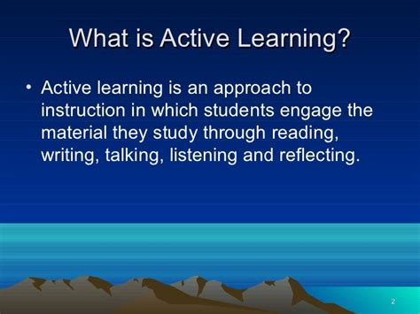 Active Learning active learning powerpoint presentation