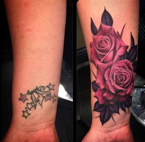 red and black tattoos 40 wrist cover up tattoos