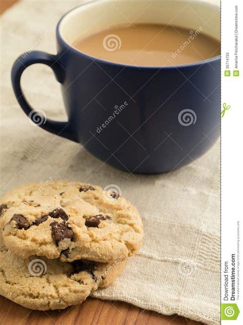 chocolate chip cookies  mug  coffee royalty  stock photo image