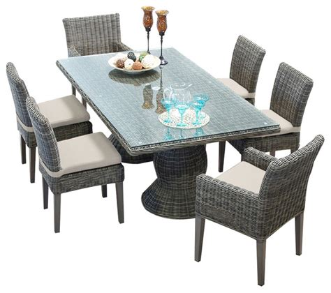 royal vintage rectangular outdoor patio dining table
