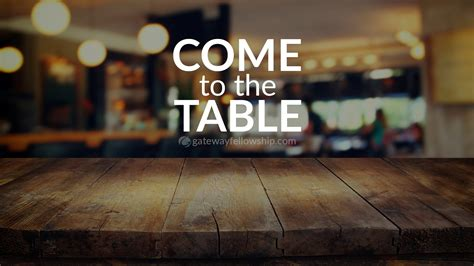 come to the table come to the table part 6 tom duchemin