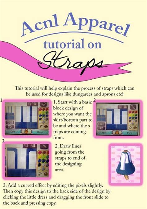 acnl tutorials acnl strap tutorial acnl tips guides pinterest