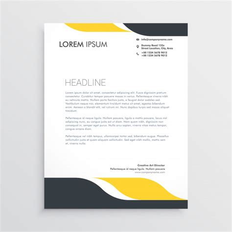 business letterhead design vector creative letterhead design template vector vector free