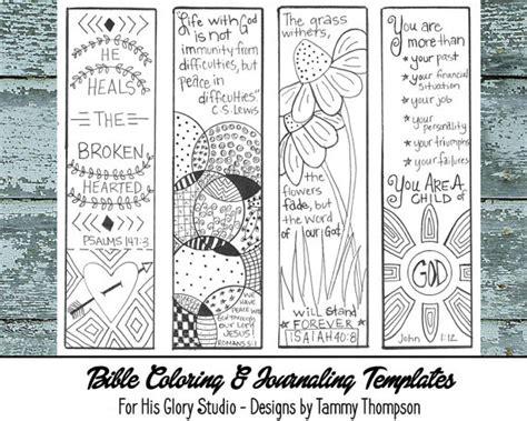 printable religious bookmarks to color bible journaling encouraging 3 bible journaling black