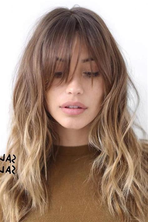 bangs for long skiny face 20 inspirations of bangs long hairstyles