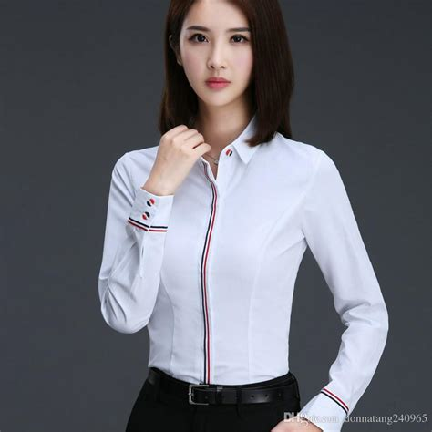 Hoodie Reigns Roffico Cloth 2018 blouse shirt cotton polyester sleeve blouses turn collar shirts