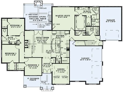 Homes Blueprints | craftsman style house plan 4 beds 3 5 baths 2470 sq ft
