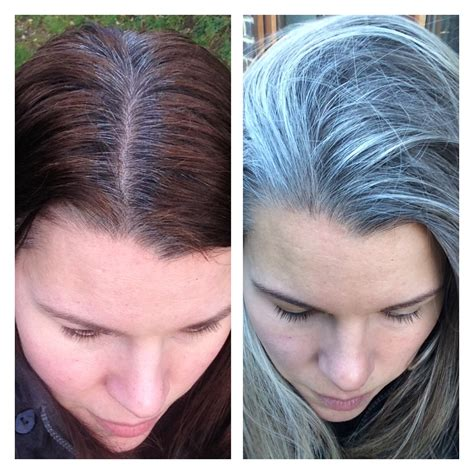 images of grey hair in transisition fake to real don t give up how to transition to