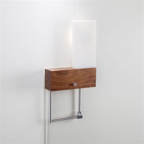 Corded Sconce Cubo Led Sconce Reading Light Corded Left Cerno