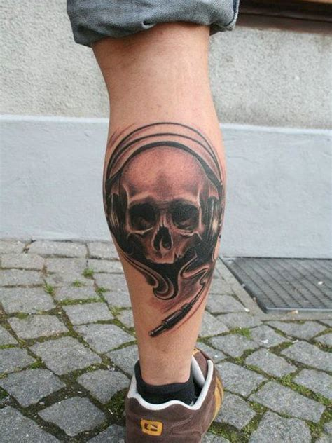 leg skull tattoo for men tattoo designs pinterest