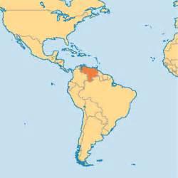 Venezuela On World Map by Venezuela Operation World