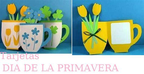 tarjetas en forma de taza manualidades reciclables manualidades primavera tarjetas