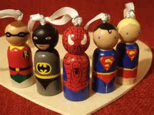 after christmas sale custom christmas super hero ornament with loops